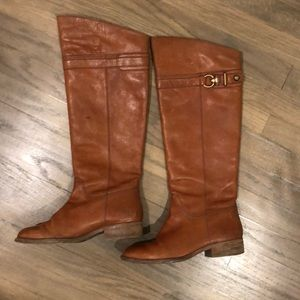 Brown Coach riding boots